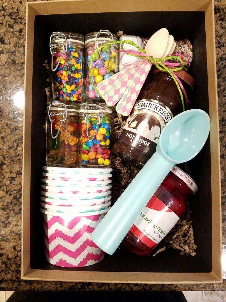 Sundae in a box fun projects Pinterest Box, Gift and