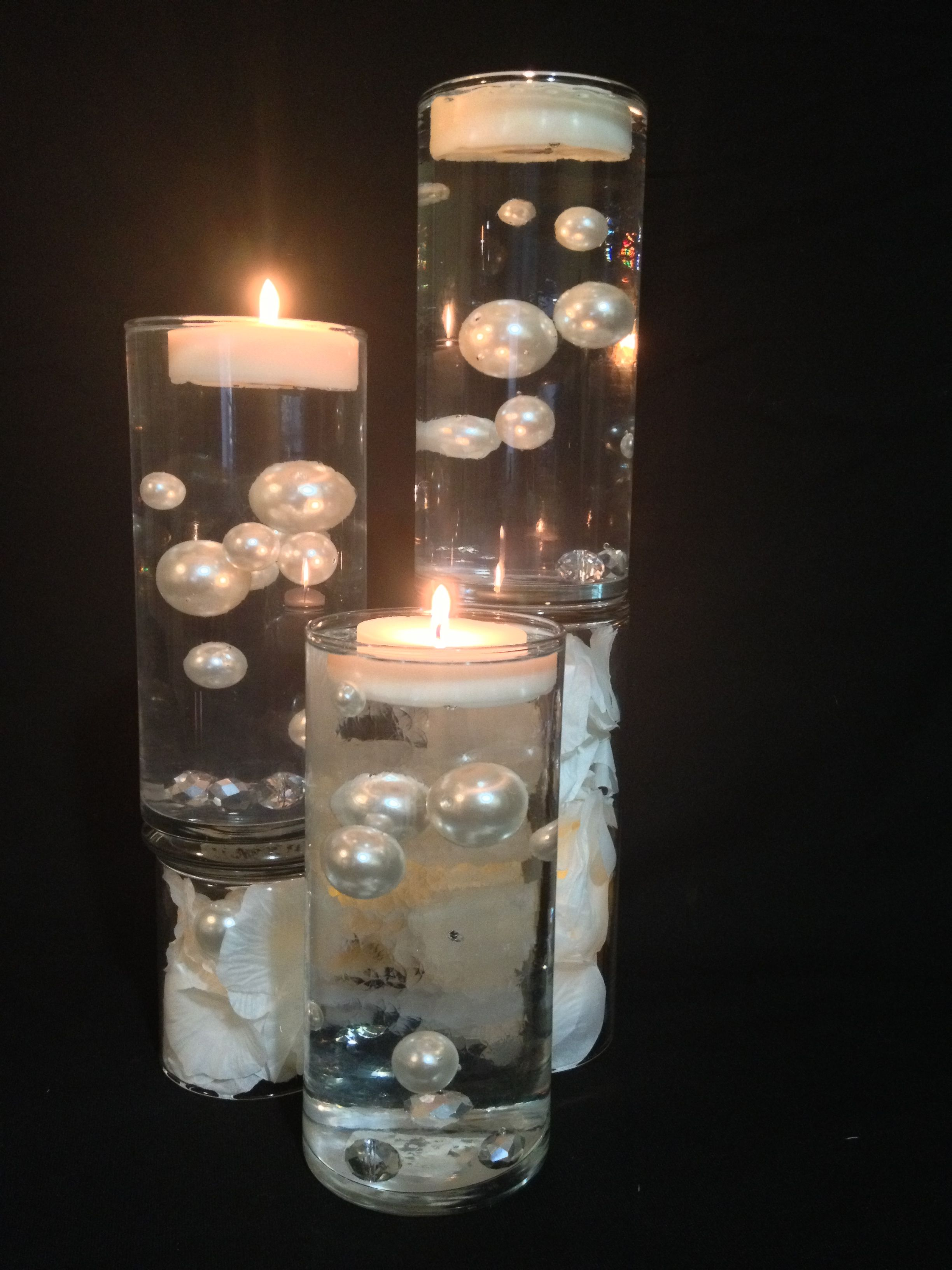 Floating Pearl Centerpiece Surprise Anniversary Ideas