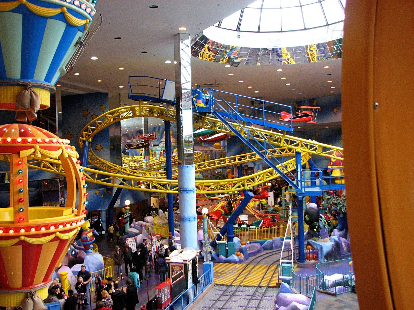 Visited the West Edmonton Mall, the largest indoor mall in