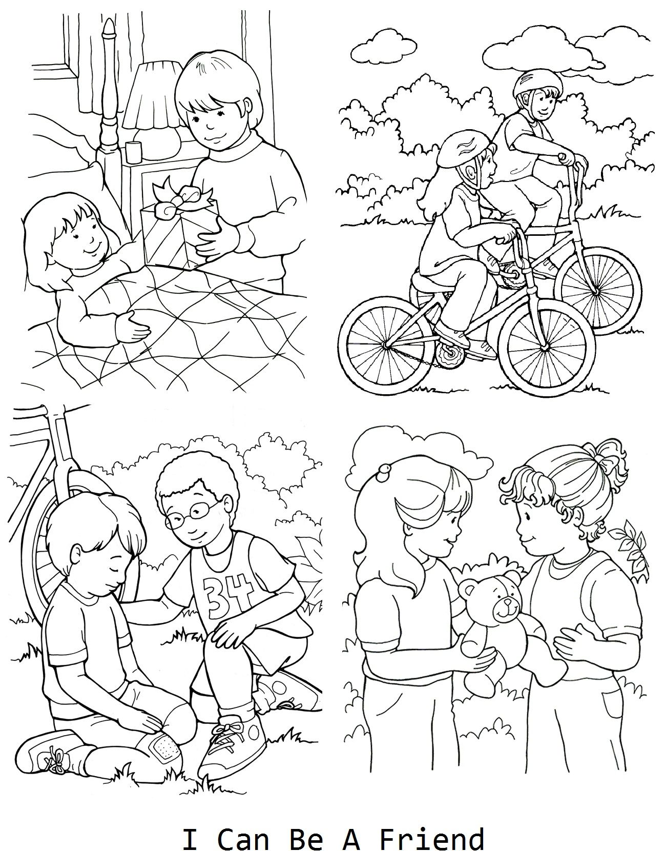 Being A Good Citizen Worksheet Sketch Coloring Page