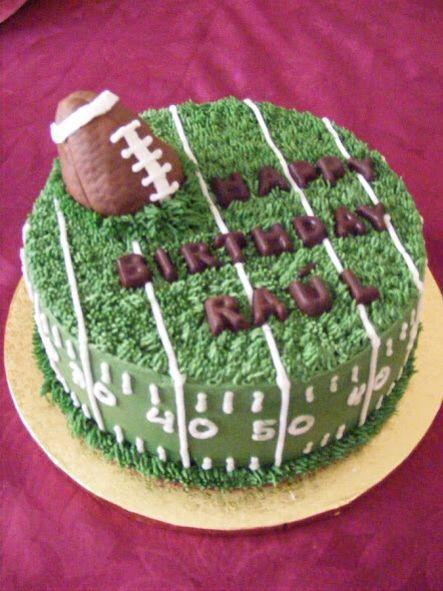 Round Football Cake Cake Ideas Pinterest Cake