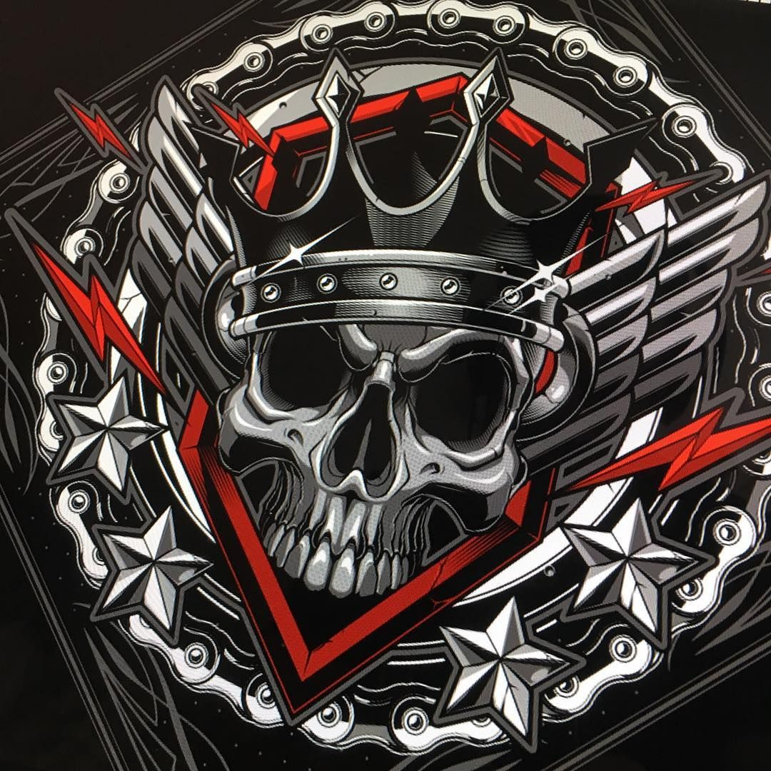 Redux WIP. vector skull king illustration sweyda