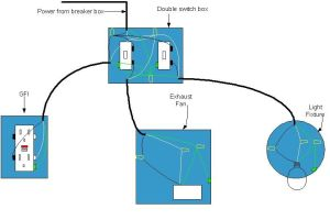 electrical diagram for bathroom   Bathroom wiring diagram