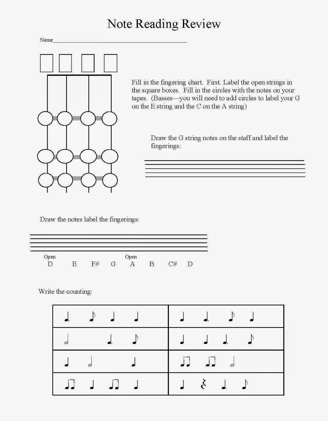 Mid Year Beginning Orchestra Quick Assessment Music Education