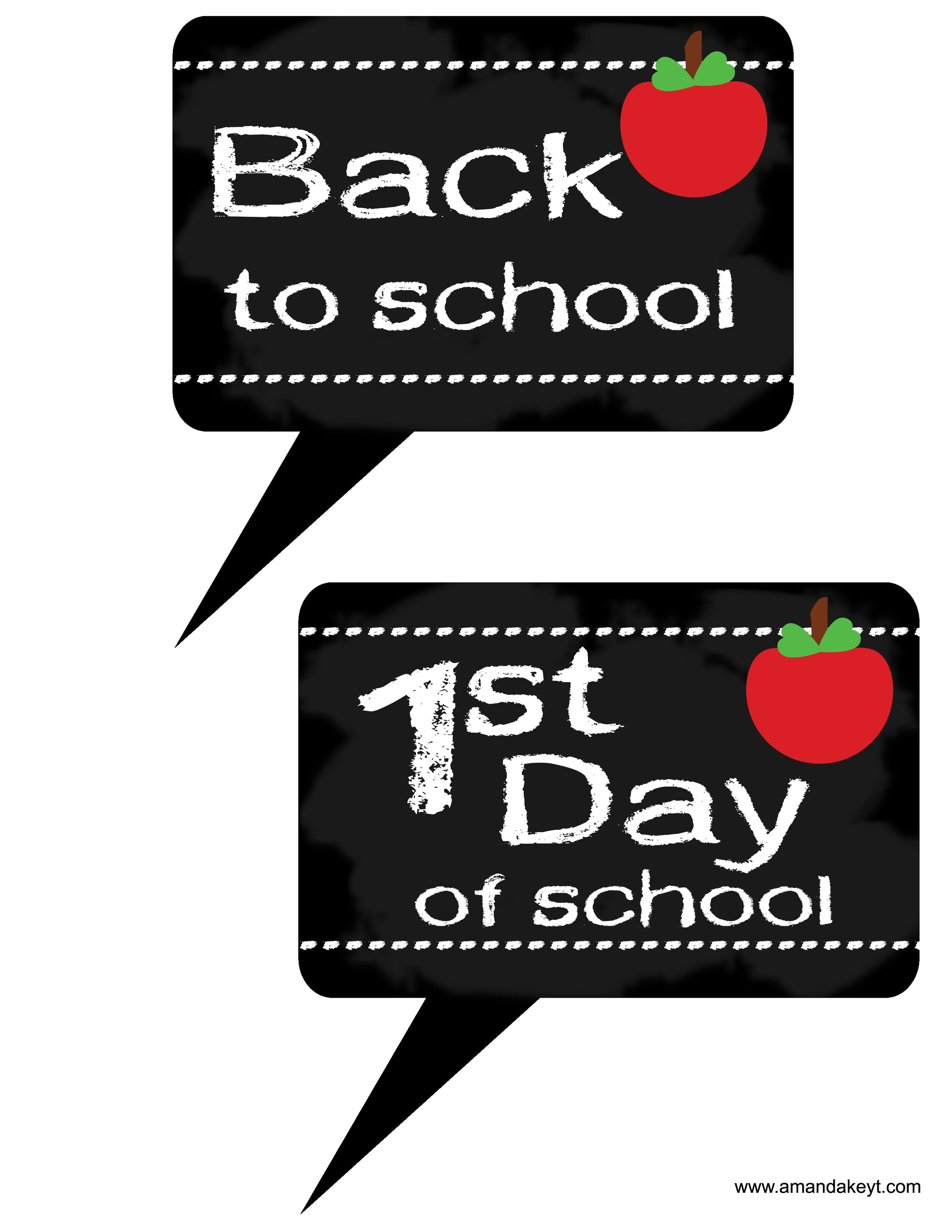Speech Bubbles From Back To School Printable Photo Booth Prop Set