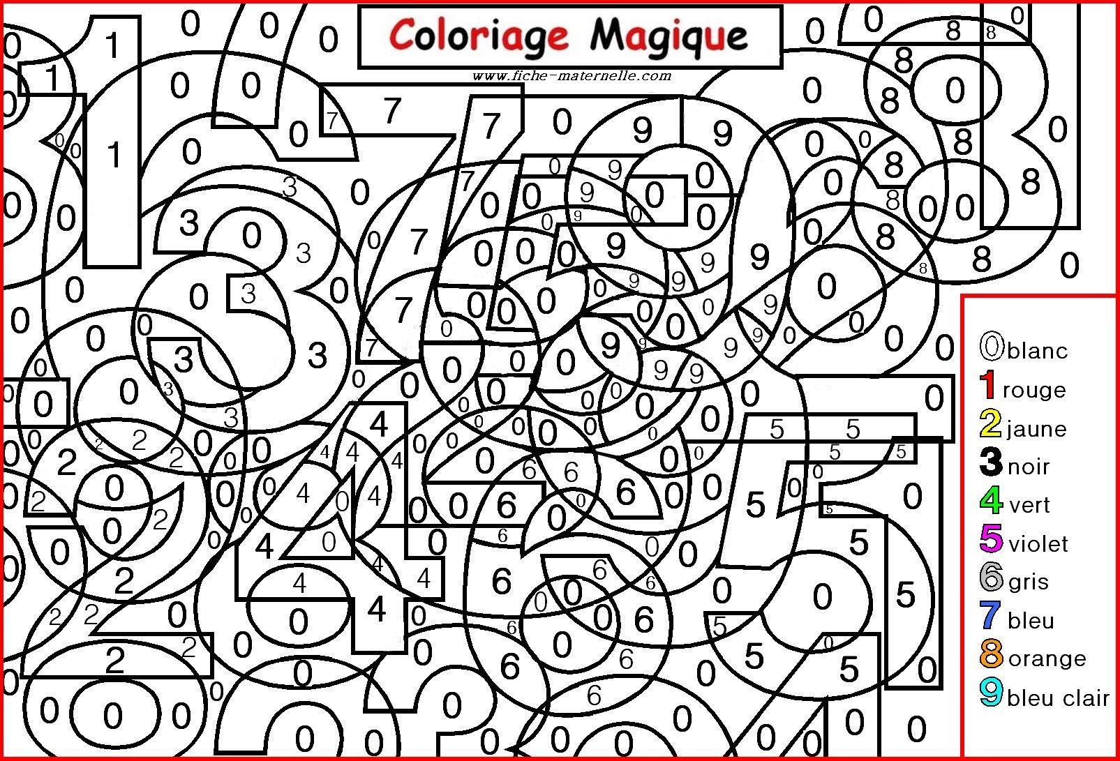 Coloriage Magique Differencier Chiffres 0 A 9