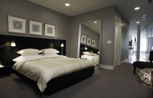 awesome innovative masculine bedroom designs black gray and white
