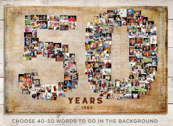 50th Birthday Gift 50th Wedding Anniversary By