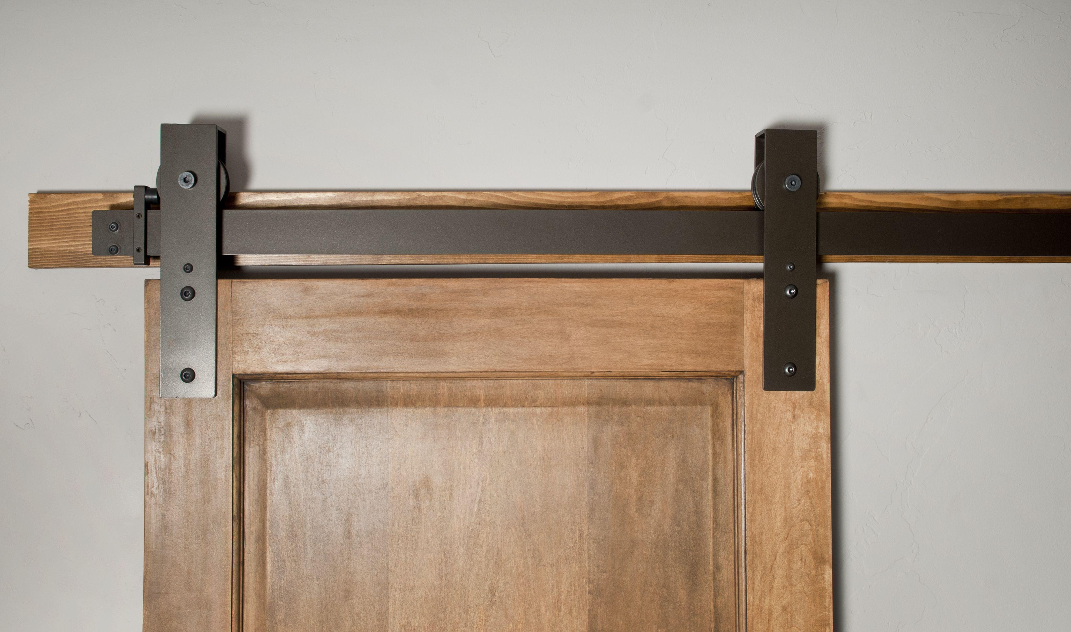 Basin Custom Barn Door Hardware Flat Track.