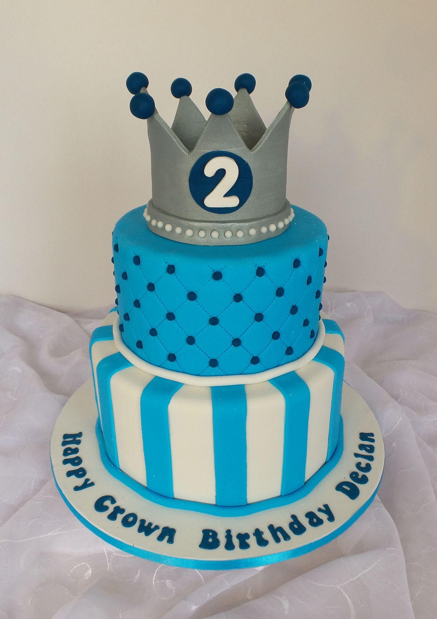Boys Crown Birthday Cake Birthday cake design, Cake