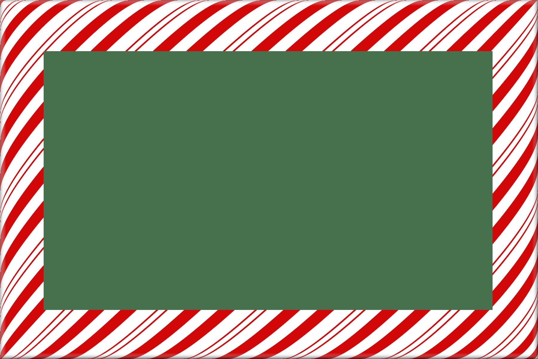 Candy Cane Christmas Borders and Frames digital frames