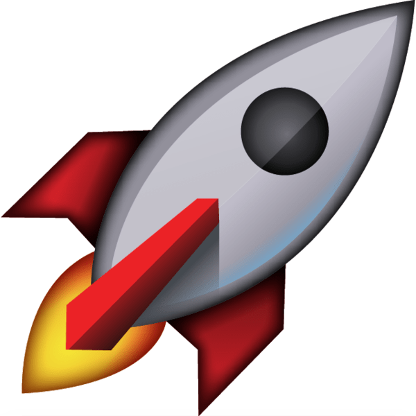 Blast off with this out of this world rocket emoji! Art