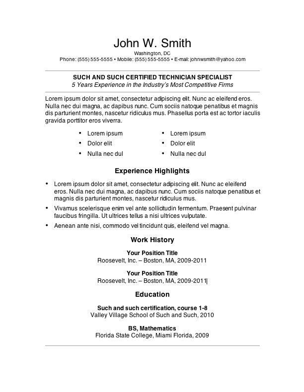 resume resume templates and resume template download on pinterest