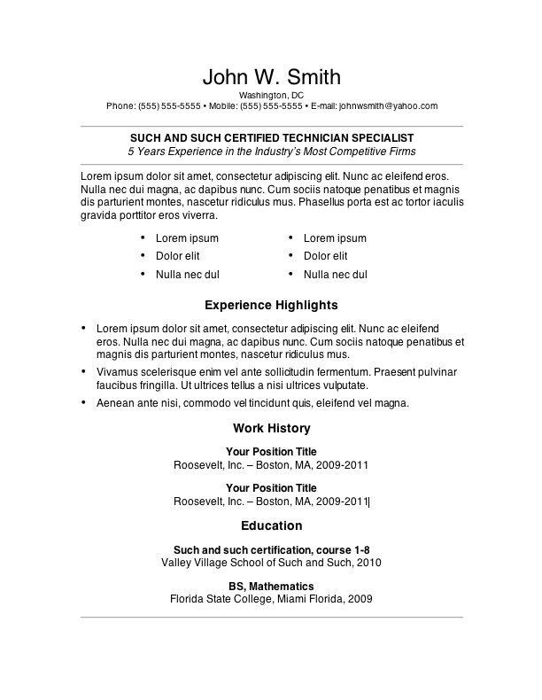 proper resume samples online relevant experience as proper resume