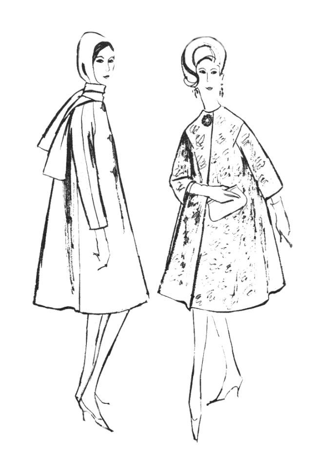 Fashion Coloring Pages 1960s Colouring In Fashion Line