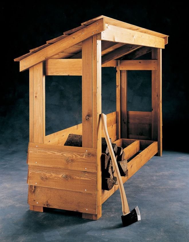 Build a firewood shelter pinteres