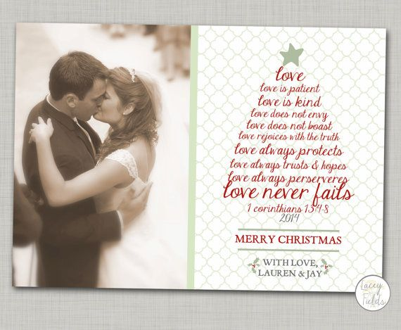 Newlywed Christmas Card Printable Religious Christmas