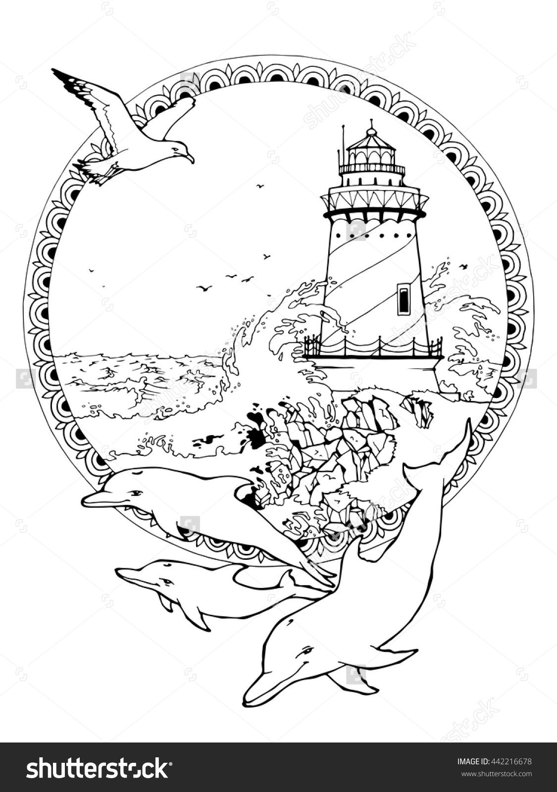 Image Result For Lighthouse Coloring Pages Coloring 8