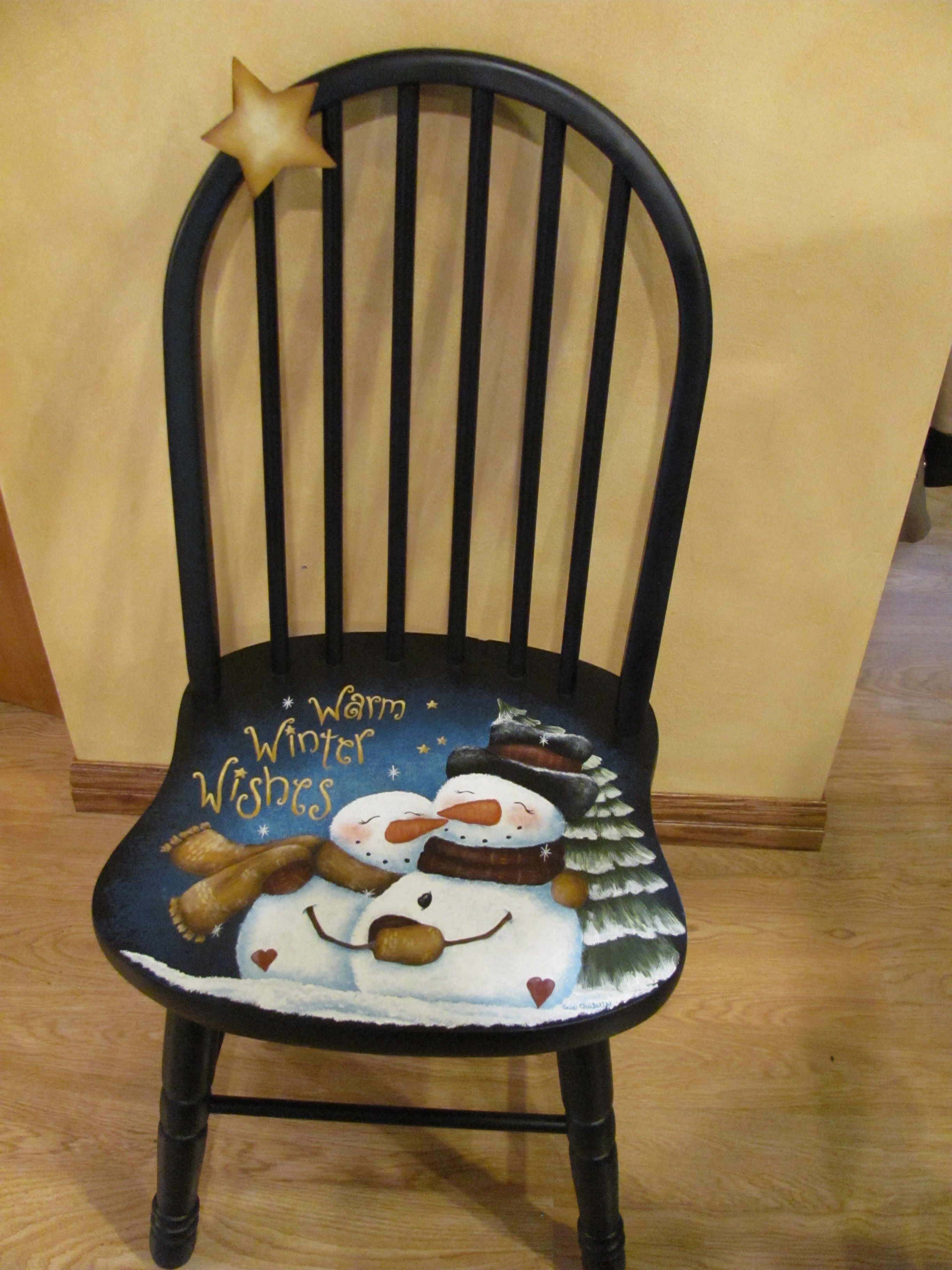 A chair I painted for a fundraiser. Painted items