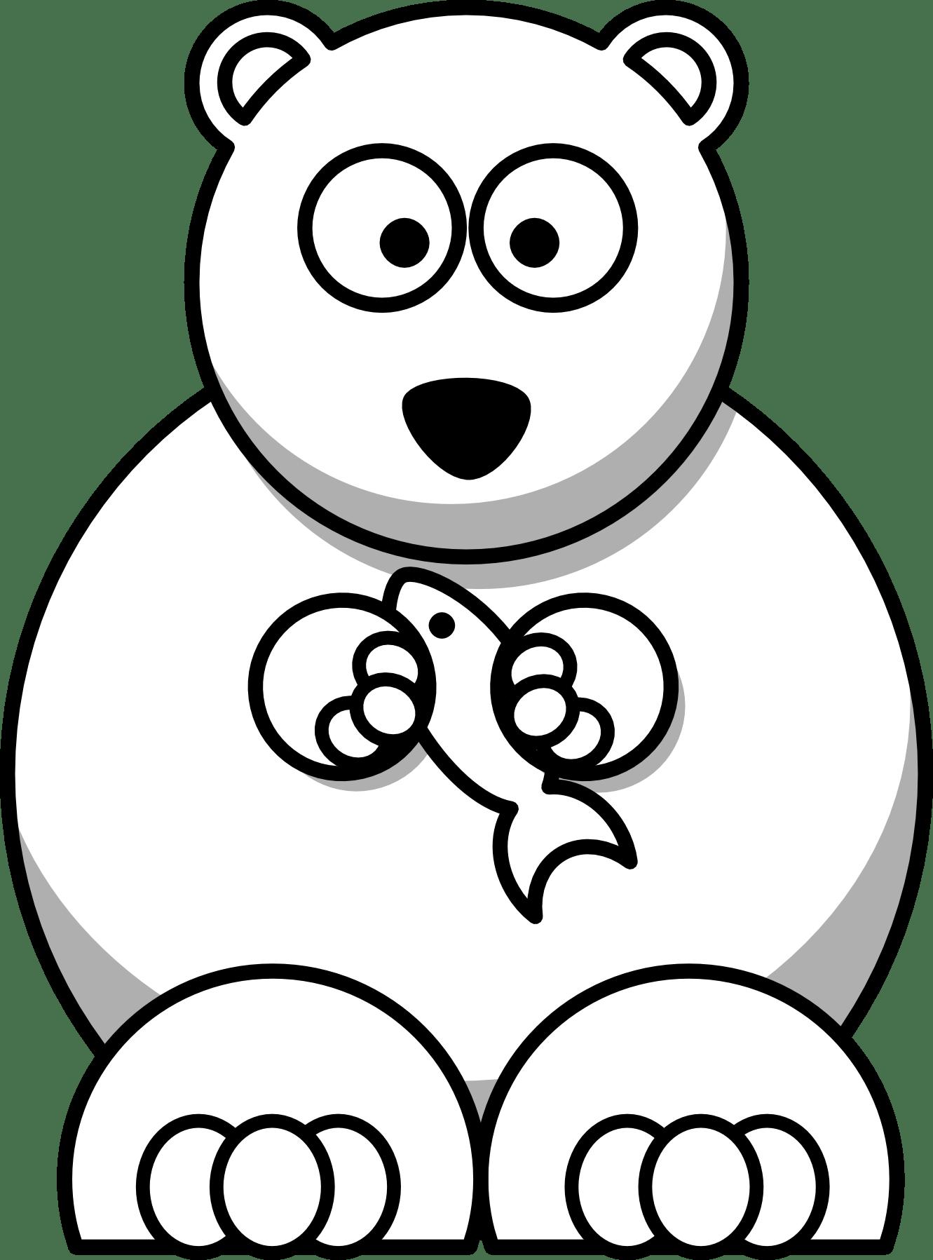 Cartoon Polar Bear Coloring Pages Cincess Pinterest