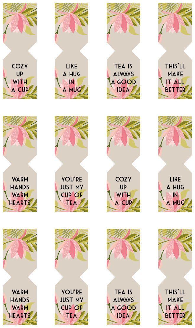 Floral Free Printable Tea Bag Tags Free Printable Teas