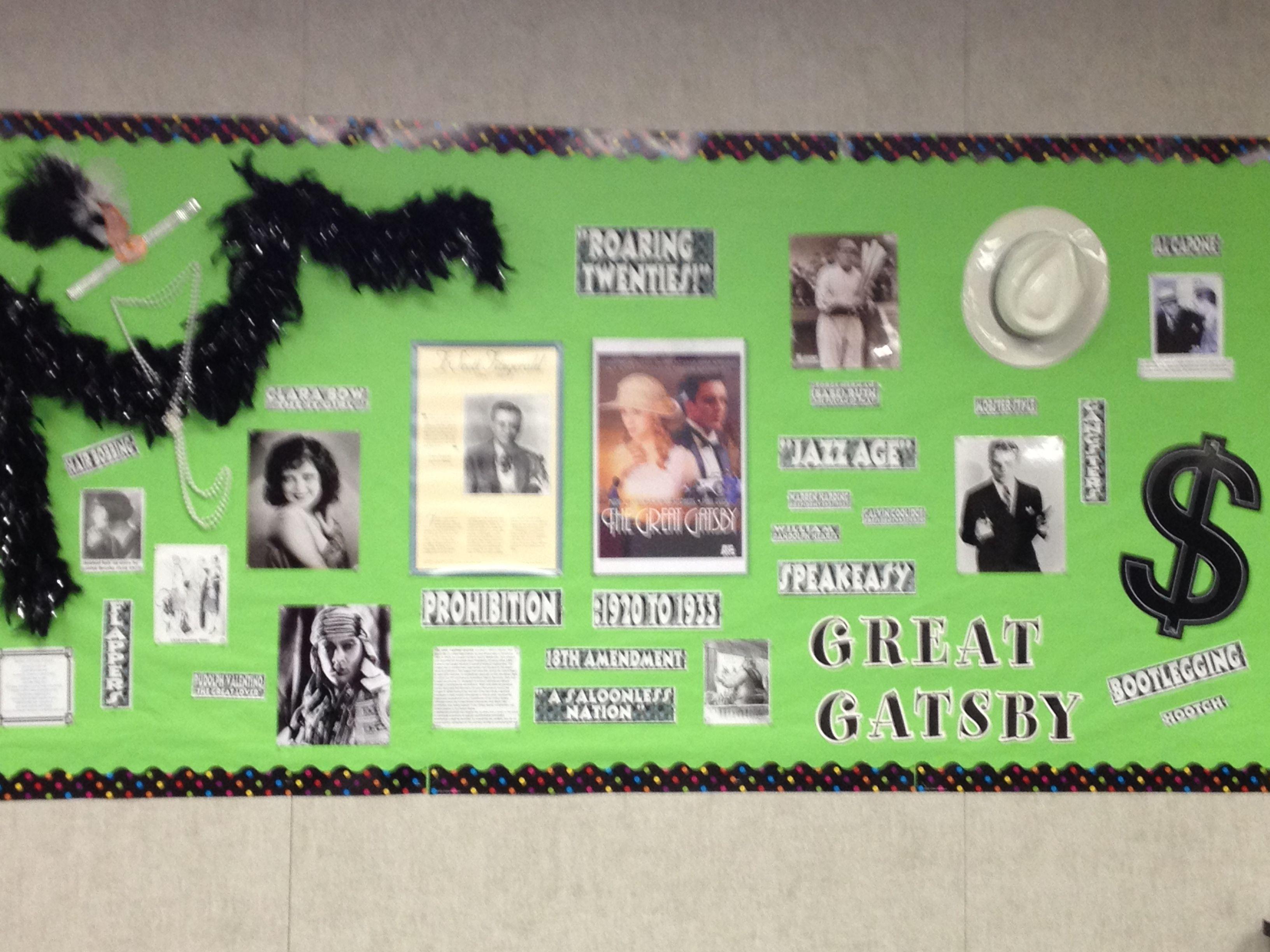 Fun Bulletin Board For The Great Gatsby