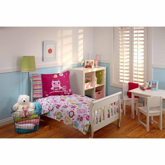 Everything Kids Hoot 3 Piece Toddler Bedding Set With Bonus Owl
