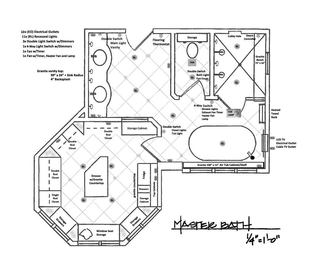 Master Bathroom Design Plans Big Master Bathroom Floor