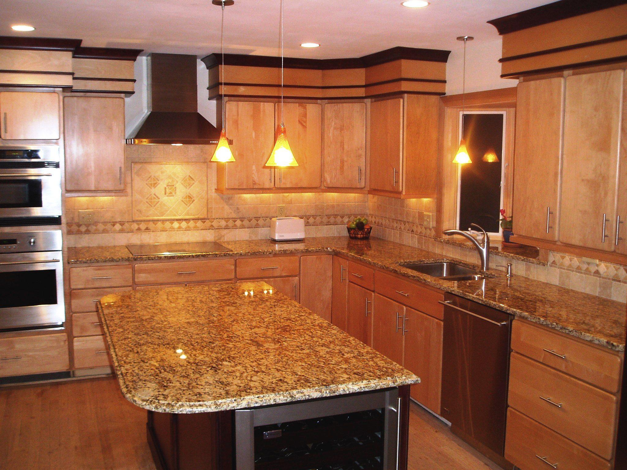 Oak Kitchen With Granite Countertops