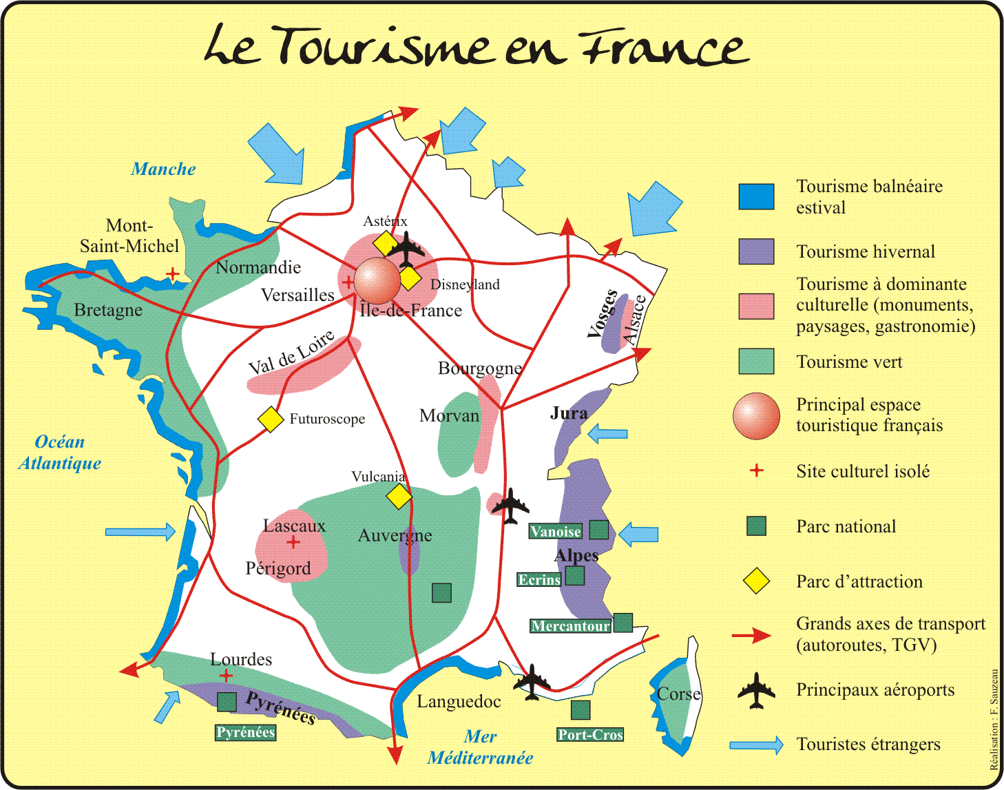 Lles De France Images Tourisme Map