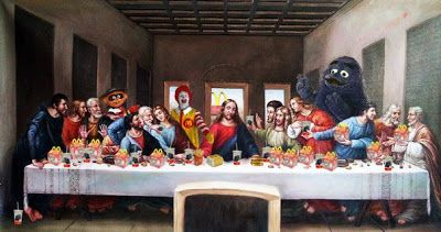 Image result for da vinci the last supper mcdonalds