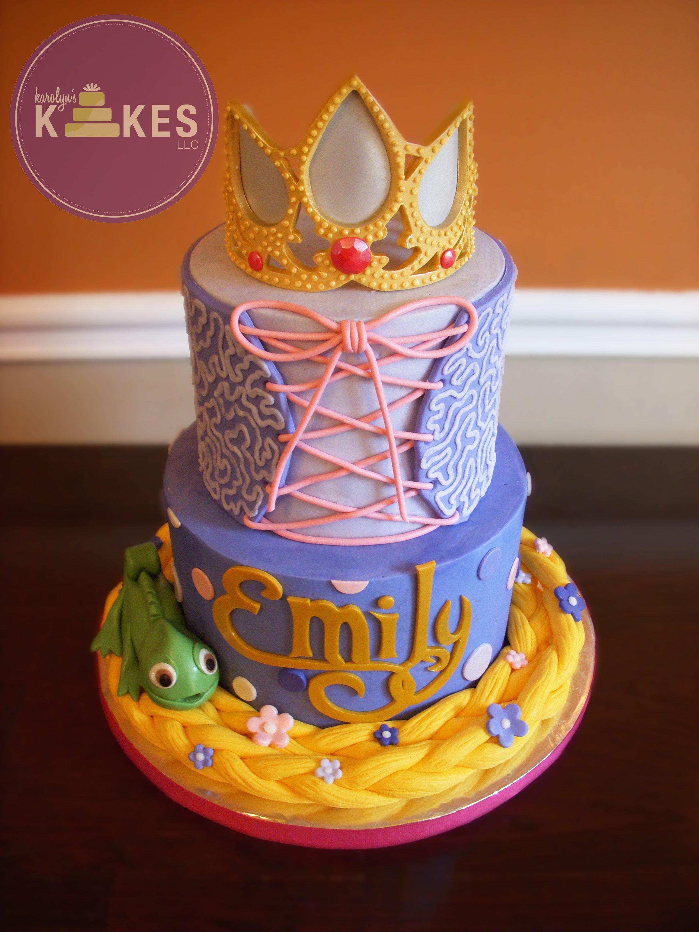 Tangled Rapunzel Cake I Iced These Cakes In Buttercream