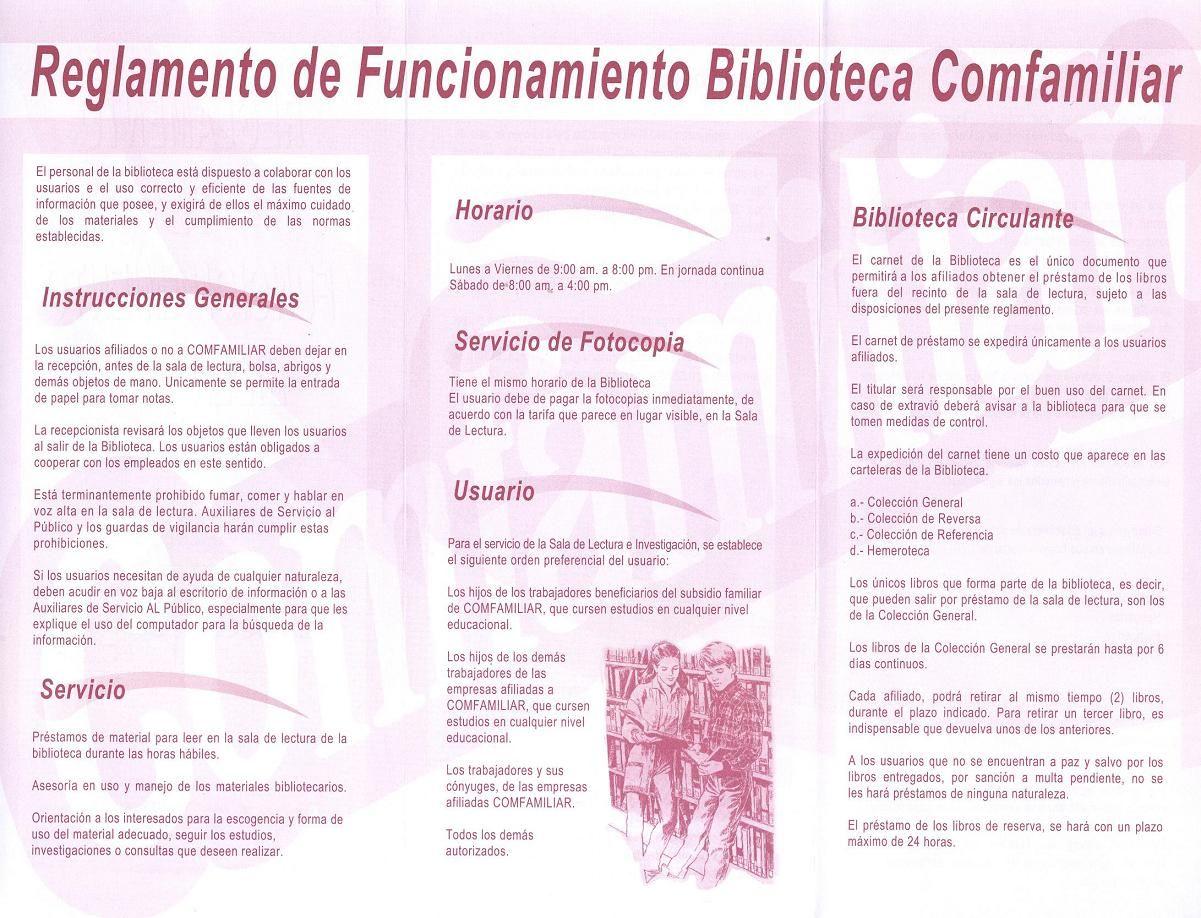Reglamento Funcionamiento Biblioteca 918