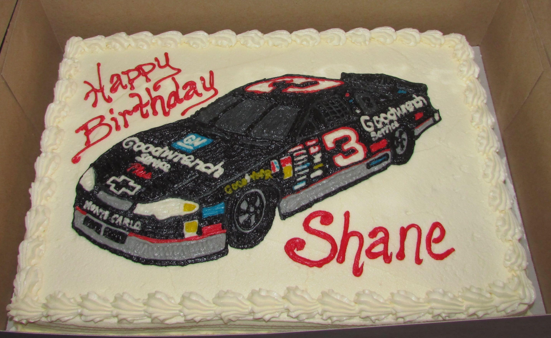 Dale Earnhardt 3 Race Car Cake