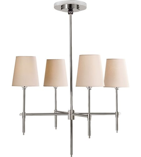 Visual Comfort Thomas Obrien Bryant 4 Light Chandelier In Polished Nickel Tob5002pn Np Visualcomfort