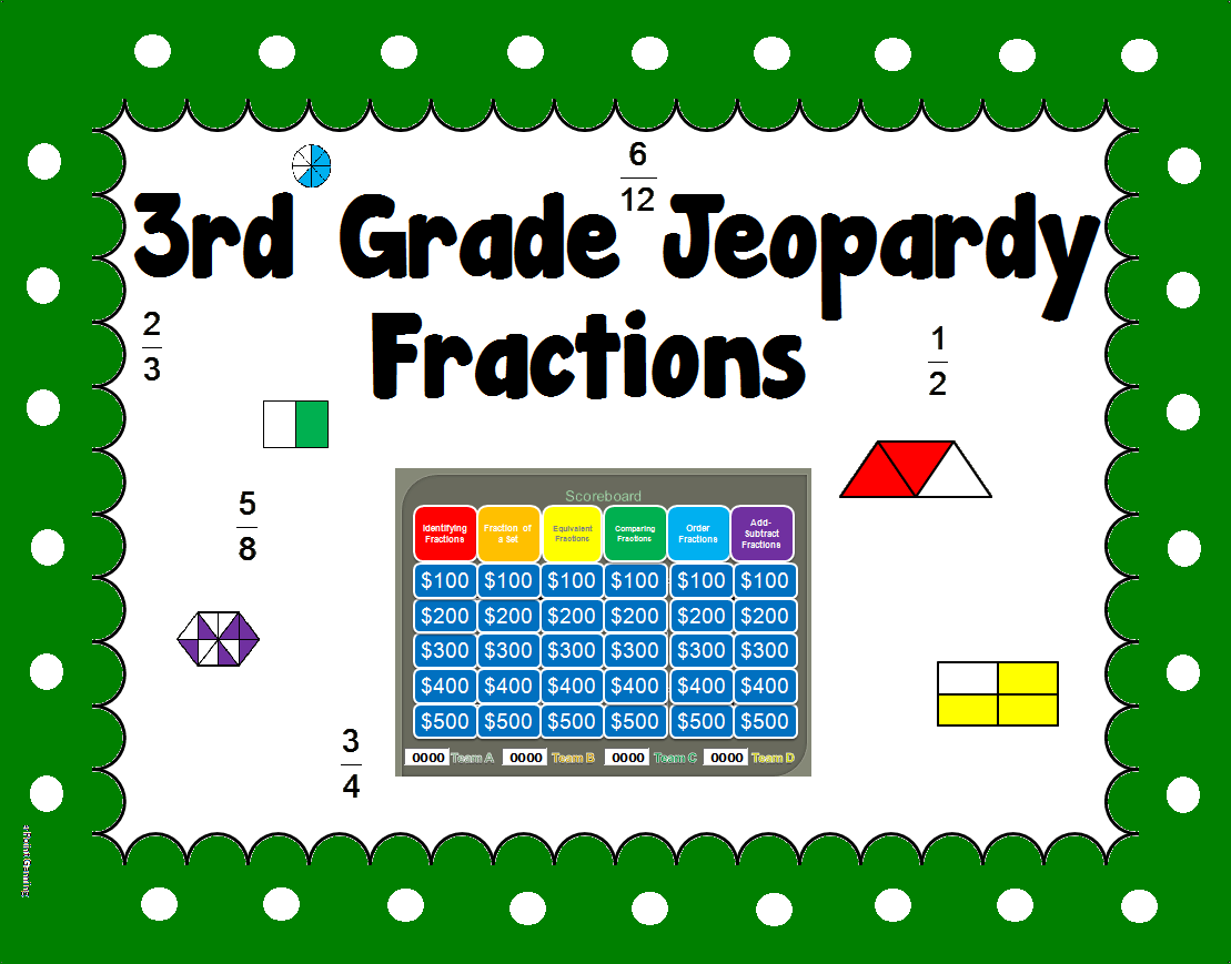 3rd Grade Fraction Jeopardy Like Powerpoint Game