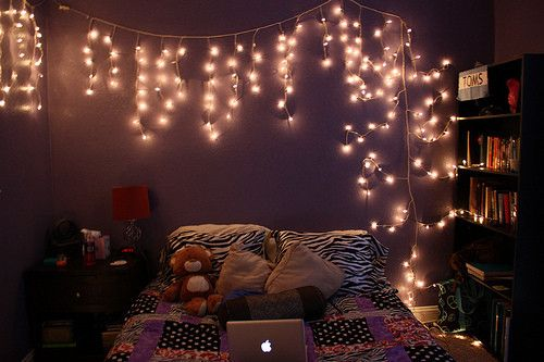 christmas lights can be added to just about any bedroom in your