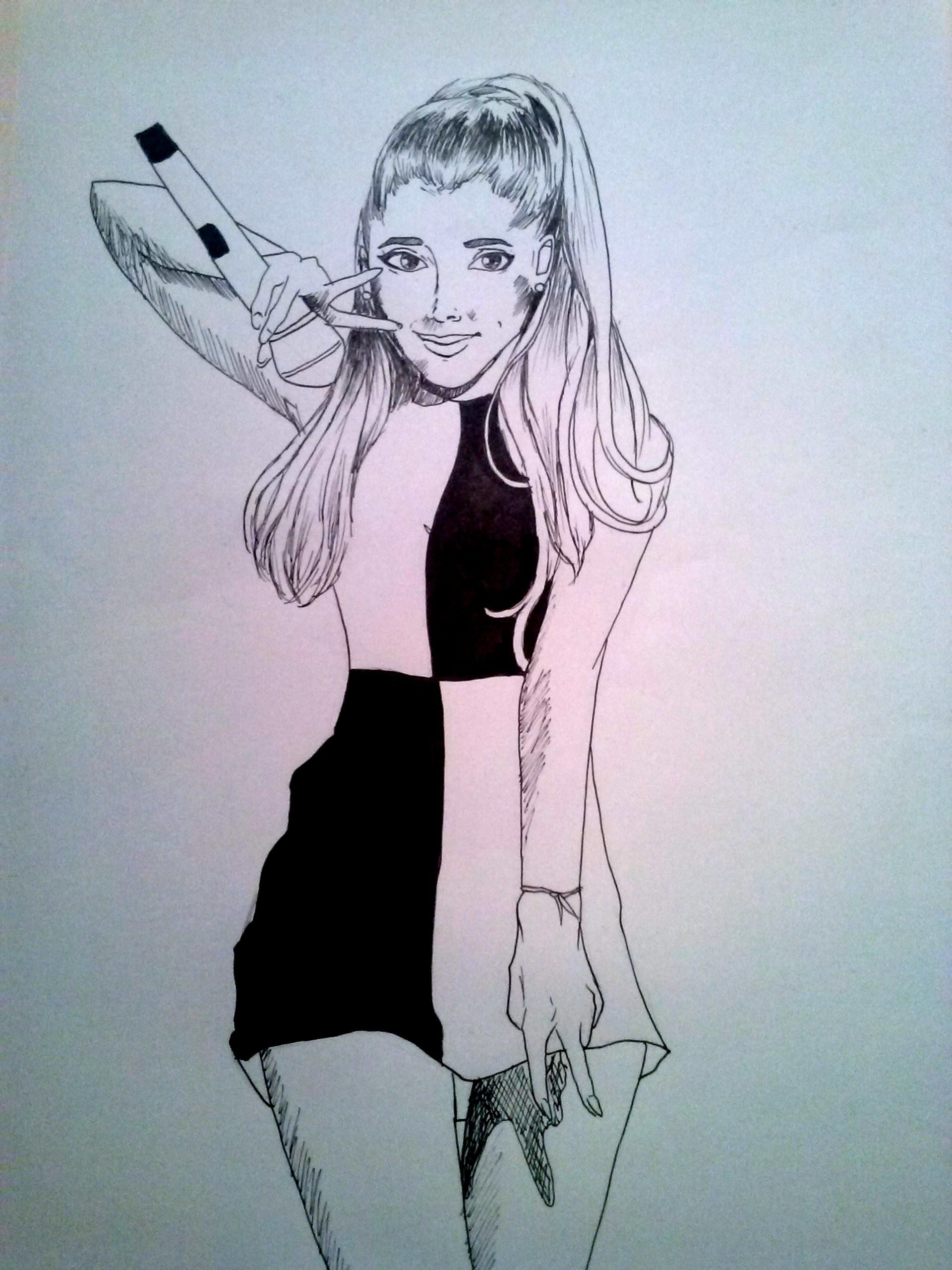Ariana Grande drawing by Dauphine Mulder DRAWING