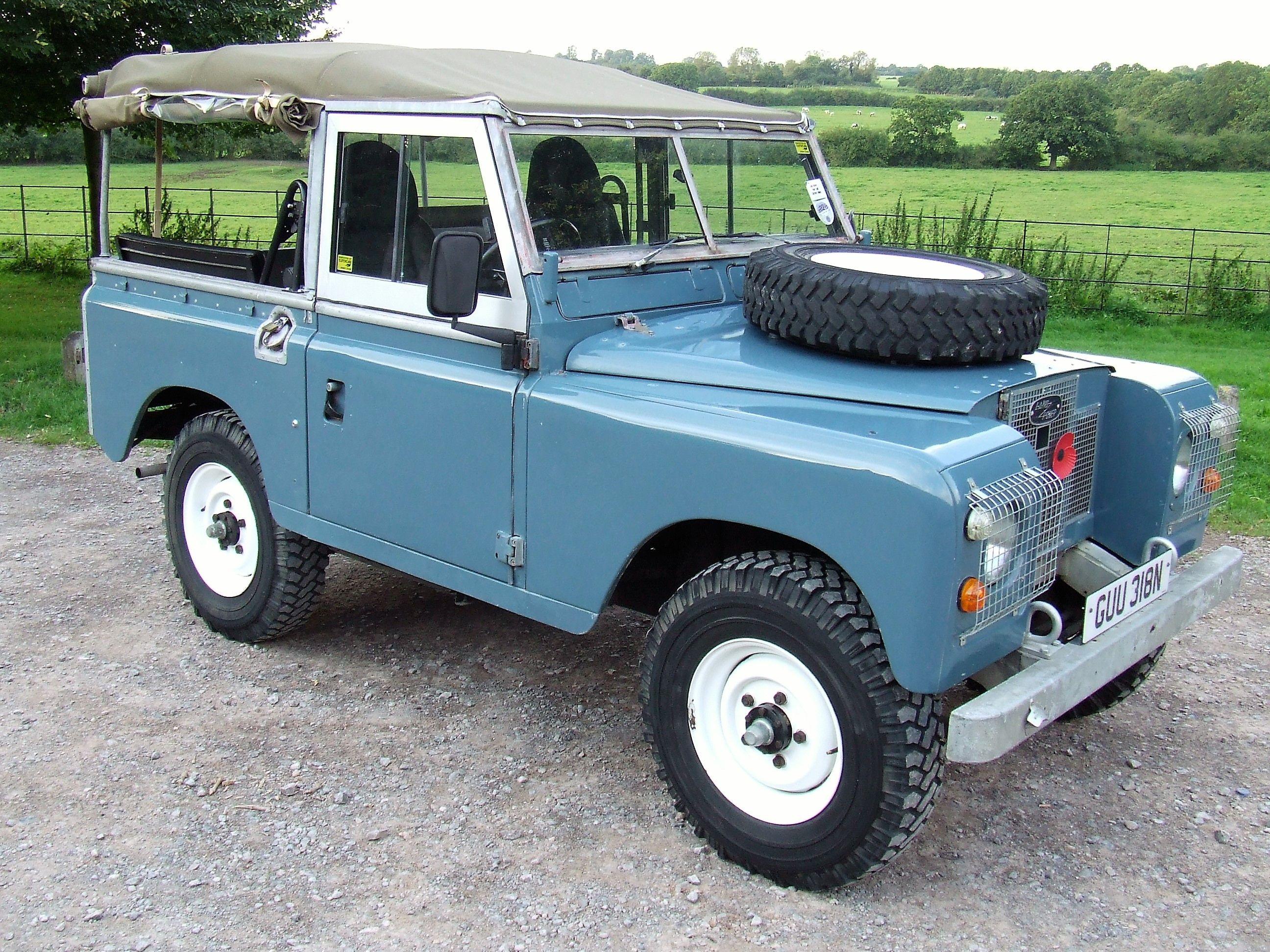 Marine Blue Land Rover Series 3 Truck Cab