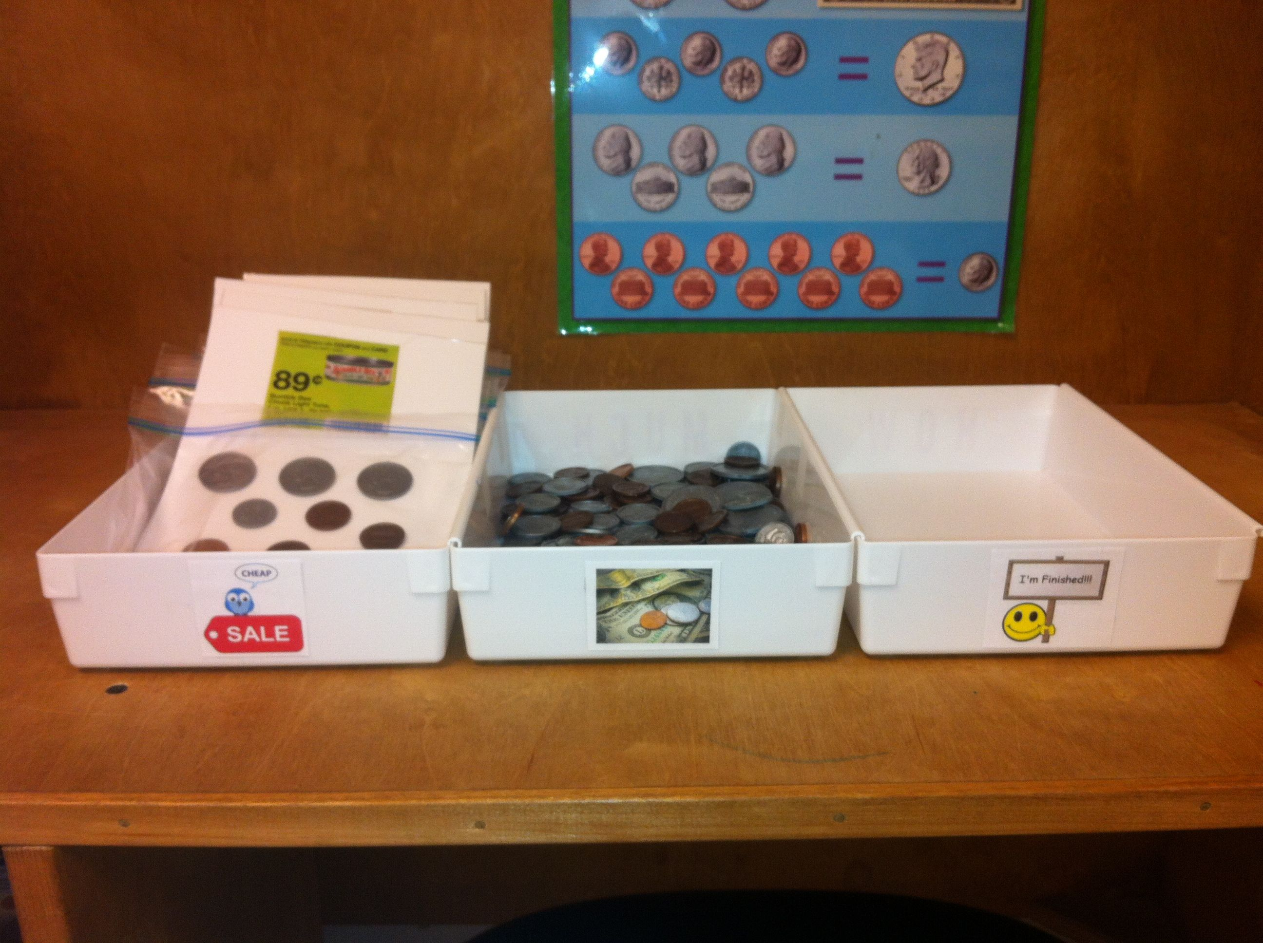 This Is One Of My Money Stations In My High School Life Skills Class