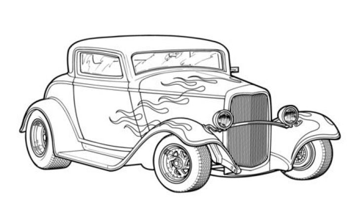 classic car coloring pages aaldtk