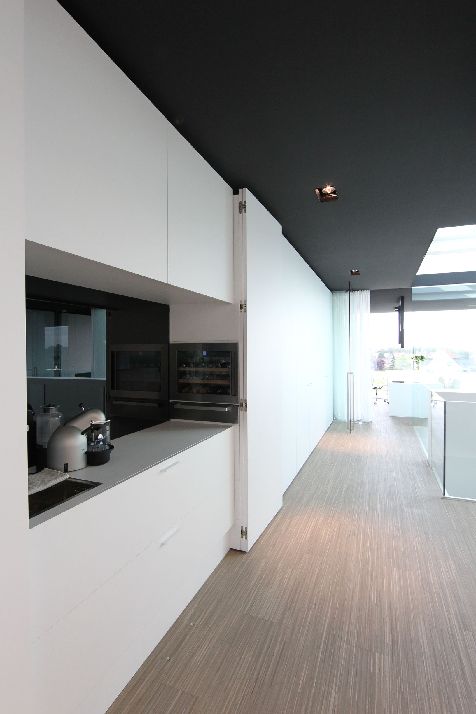 Office at Luxhome, with a hide away kitchen area with a