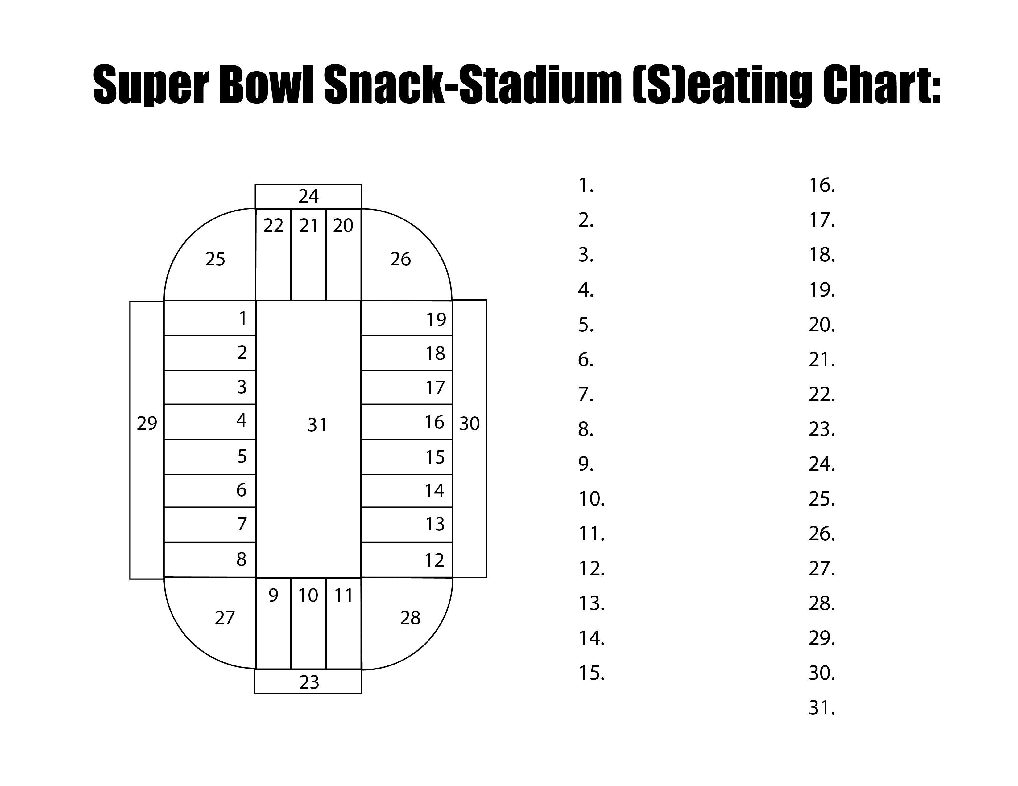 Super Bowl Snack Stadium Sign Up