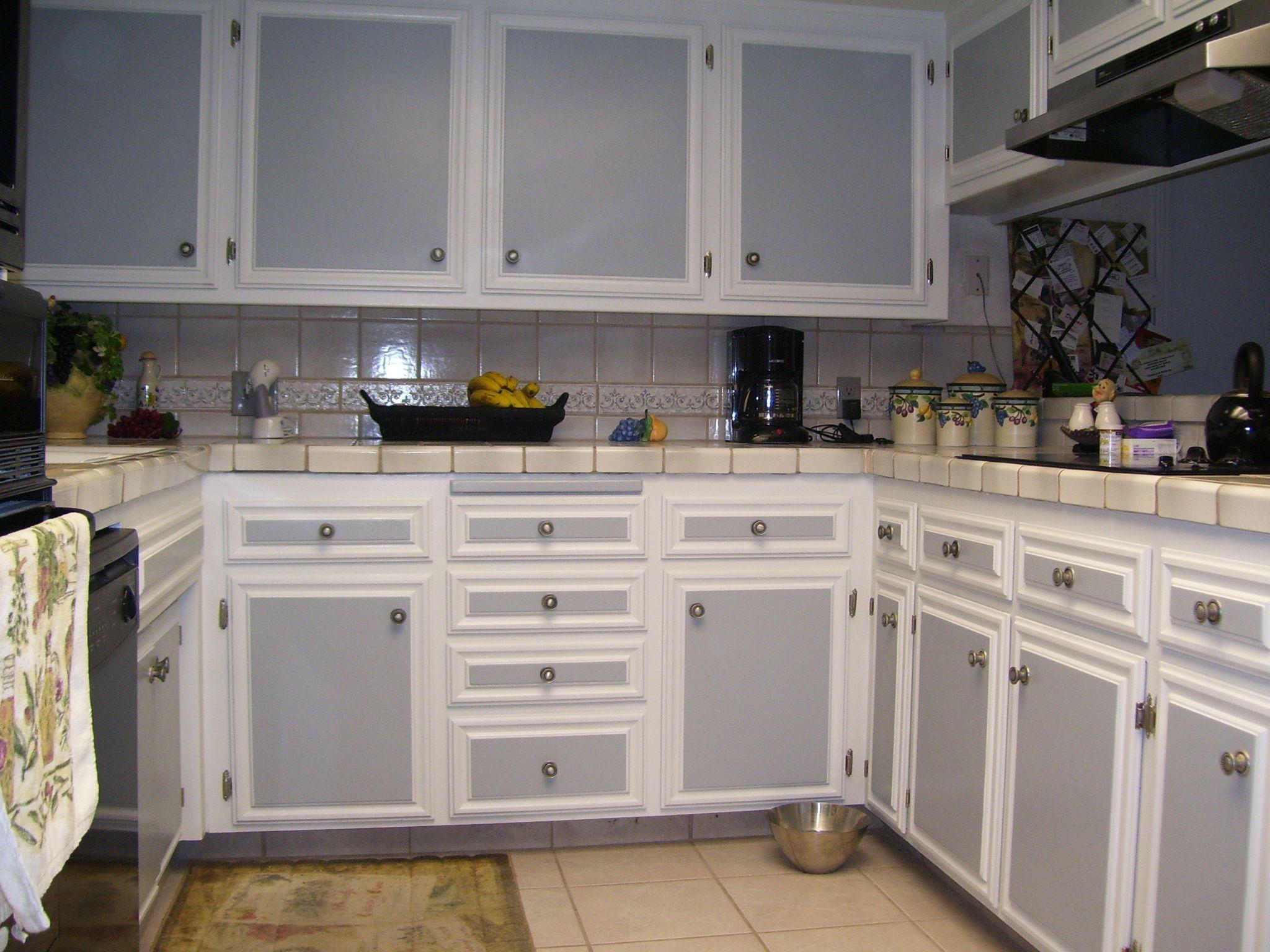 Best Kitchen Gallery: Painted Cabi S Brandom Painting Frank Brandom Painting of Two Toned Kitchen Cabinet Doors on cal-ite.com