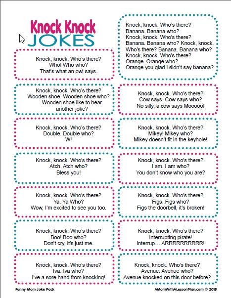 Knock Knock Jokes for Kids Funny knock knock jokes