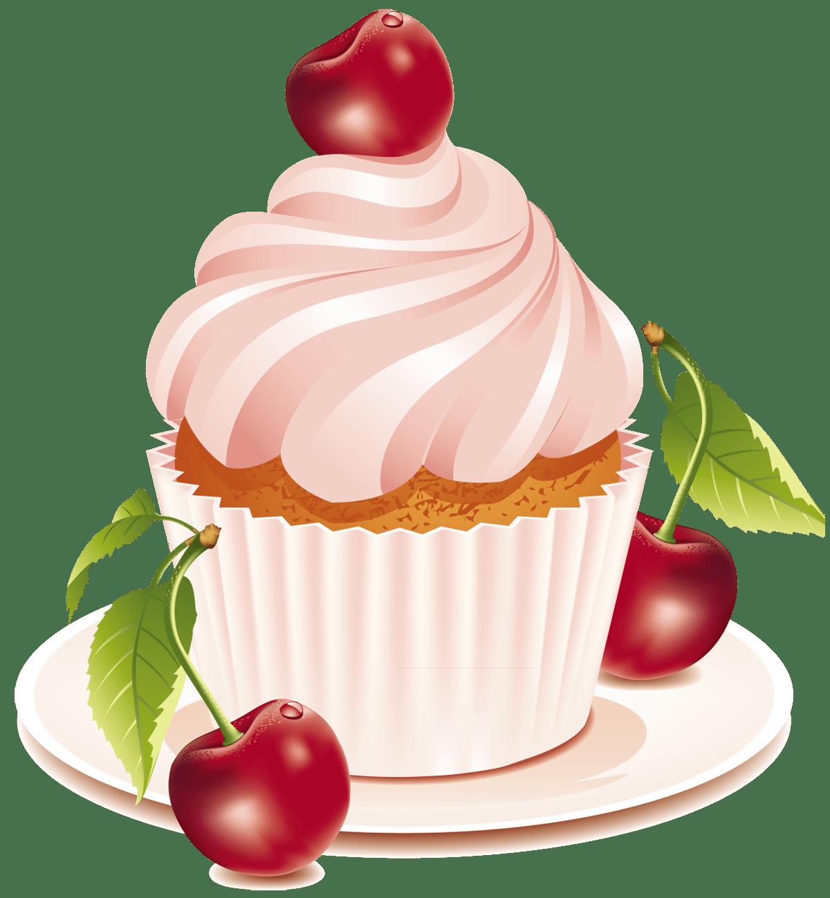 Cherry Cake PNG Clipart cupcake Pinterest Cherries
