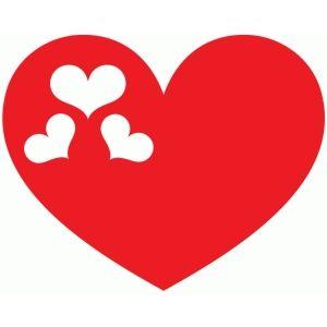 Silhouette Design Store Hearts In Heart Silhouette