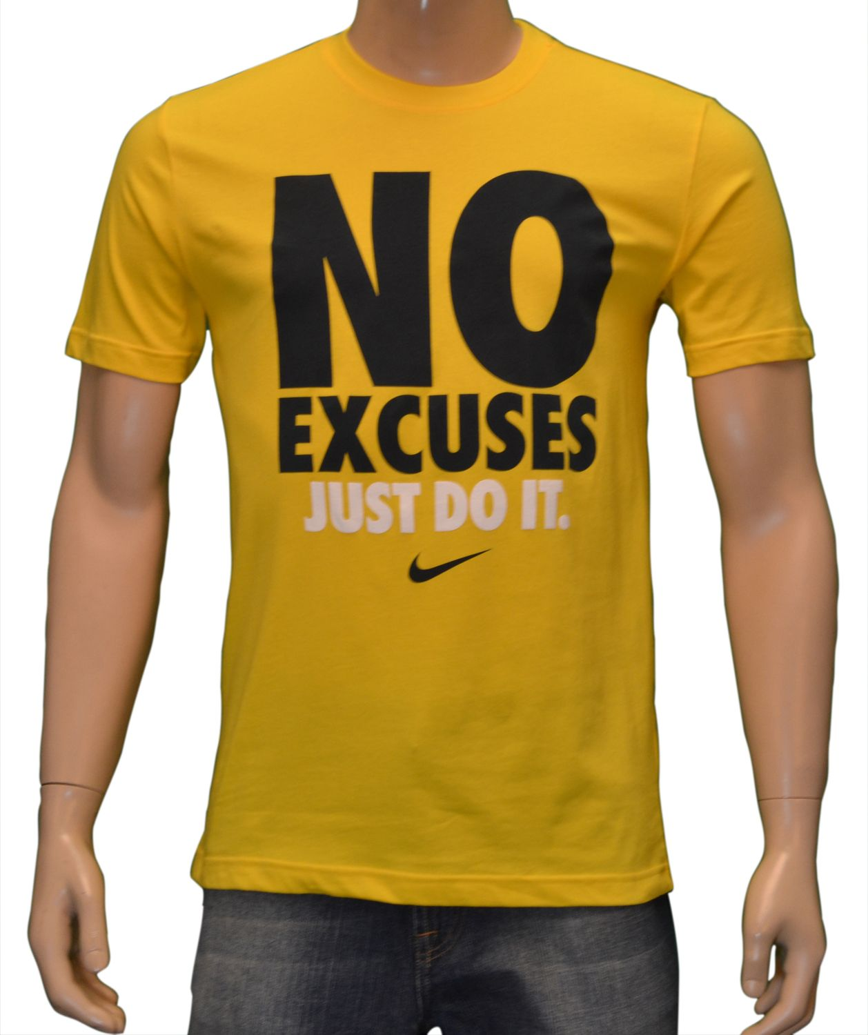 "Details about Nike Men's ""NO EXCUSES JUST DO IT"" Shirt"