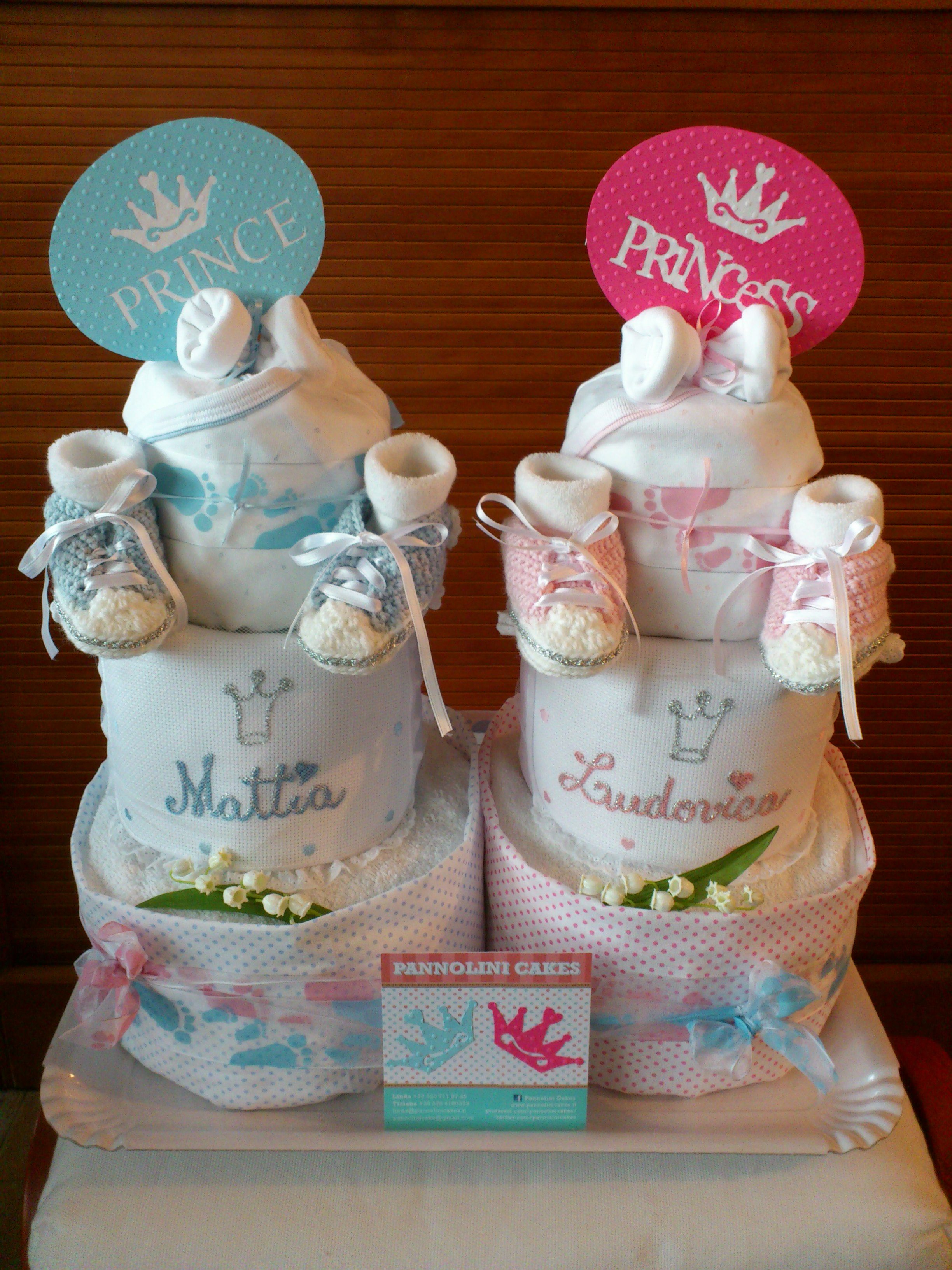 Diaper Cake For Twins Baby Diaper Cake