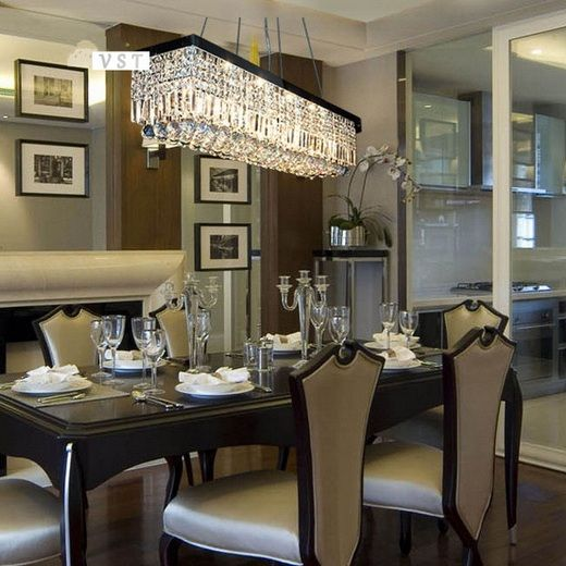 Modern Rectangle Dining Room Chandeliers Decolover